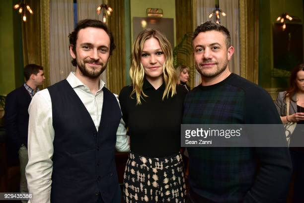 Actors George Blagden Julia Stiles and Warren Brown attend as Ovation TV hosts 20182019 Programming Preview at Soho Grand Hotel on March 8 2018 in...