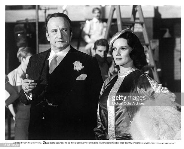 "Actors George C. Scott and actress Trish Van Devere on the set of the Warner Bros movie "" Movie Movie"" in 1978."