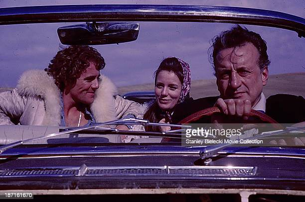 Actors George C Scott Trish Van Devere and Tony Musante in a scene from the movie 'The Last Run' 1971