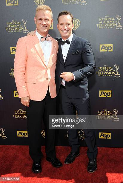 Actors George Gray and Mike Richards arrive for The 42nd Annual Daytime Emmy Awards held at Warner Bros Studios on April 26 2015 in Burbank California