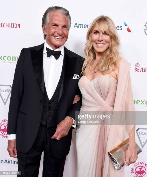 Actors George Hamilton and Alana Stewart arrive at the 2018 Carousel Of Hope Ball at The Beverly Hilton Hotel on October 6 2018 in Beverly Hills...
