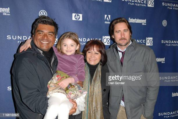 Actors George Lopez Morgan Lily Adriana Barazza and Luke Wilson attend the premiere of Henry Poole Is Here at the Eccles Theatre during the 2008...