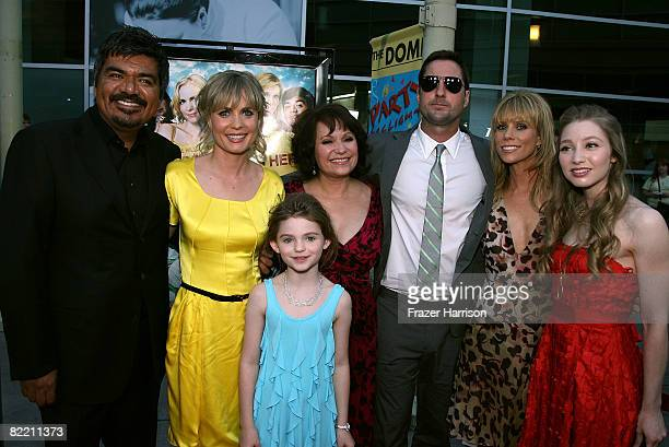 Actors George Lopez Radha Mitchell Morgan Lily Adriana Barraza Luke Wilson Cheryl Hines and Rachel Seiferth arrive at the premiere of Overture Films'...