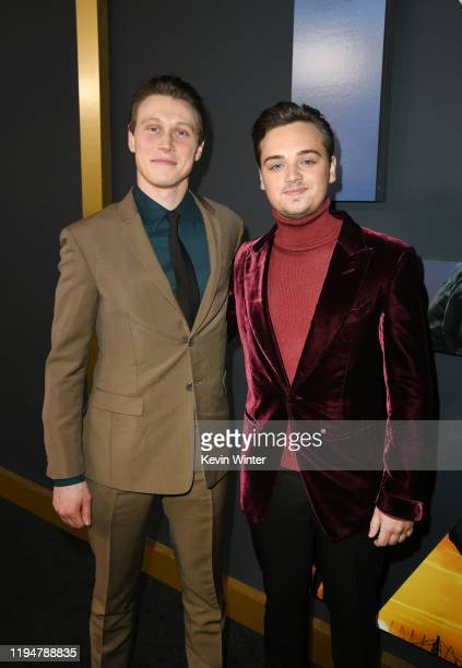Actors George MacKay and DeanCharles Chapman attend the premiere of Universal Pictures' 1917 at TCL Chinese Theatre on December 18 2019 in Hollywood...