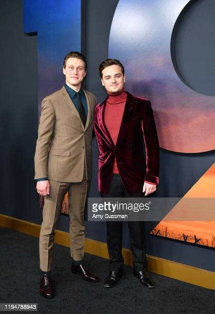 "Actors George MacKay and Dean-Charles Chapman attend the premiere of Universal Pictures' ""1917"" at TCL Chinese Theatre on December 18, 2019 in..."