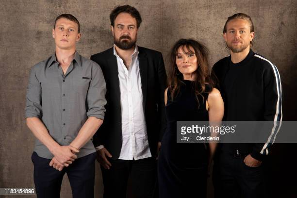 Actors George Mackay, director Justin Kurzel, Essie Davis and Charlie Hunnam from 'The True History of The Kelly Gang' are photographed for Los...