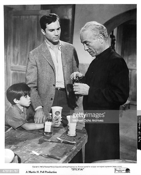 Actors George Maharis and Aldo Ray in a scene from the Paramount Pictures movie Sylvia circa 1965