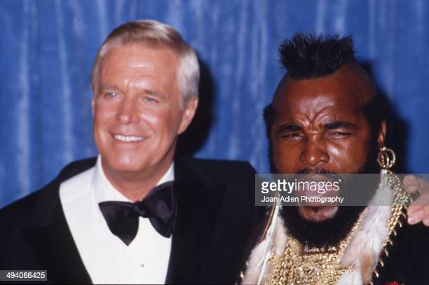 Actors George Peppard and Mr T attend the 35th Annual Primetime Emmy Awards held at the Pasadena Civic Auditorium on September 25 1983 in Pasadena...
