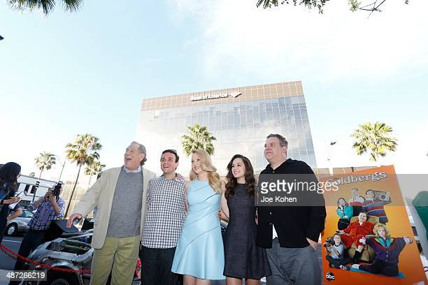 """Actors George Segal, Troy Gentile, Hayley Orrantia, Jeff Garlin and Wendi McLendon-Covey - the cast of """"The Goldbergs"""" attend The Paley Center For..."""