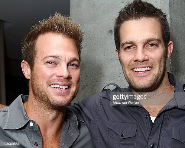 Actors George Stults and Geoff Stults attend ELLE and Express 25 at 25 Event held at Palihouse Holloway on October 7 2010 in West Hollywood California