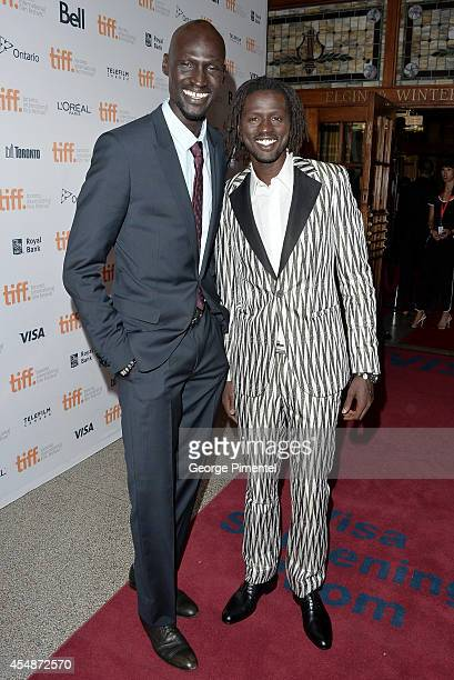 Actors Ger Duany and Emmauel Jal attend The Good Lie premiere during the 2014 Toronto International Film Festival at The Elgin on September 7 2014 in...