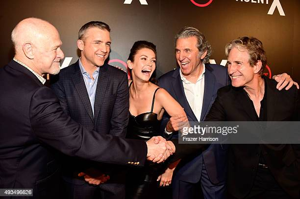Actors Gerald McRaney Jeff Hephner Olga Fonda Executive Producer Armyan Bernstein and actor John Shea attend TNT's Agent X screening at The London...