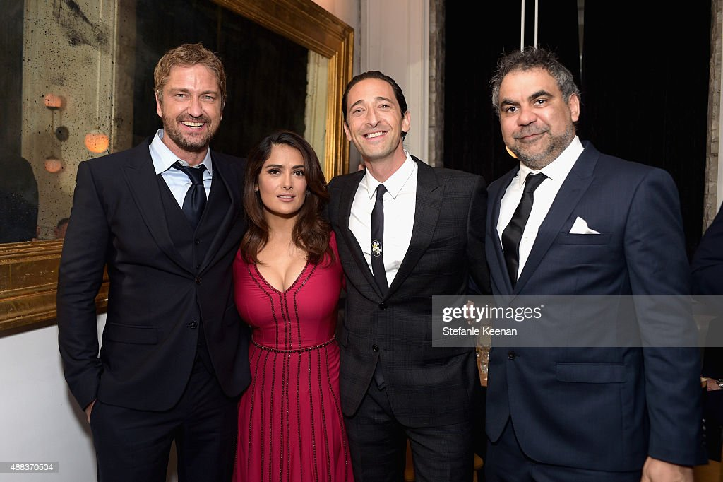 Actors Gerard Butler, Salma Hayek, Adrien Brody and director Wayne Blair attend the Septembers of Shiraz TIFF Party Hosted By GREY GOOSE Vodka at Byblos on September 15, 2015 in Toronto, Canada.