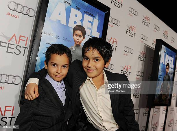 Actors Gerardo RuizEsparza and Christopher RuizEsparza arrive at Abel screening during AFI FEST 2010 presented by Audi at Grauman's Chinese Theatre...