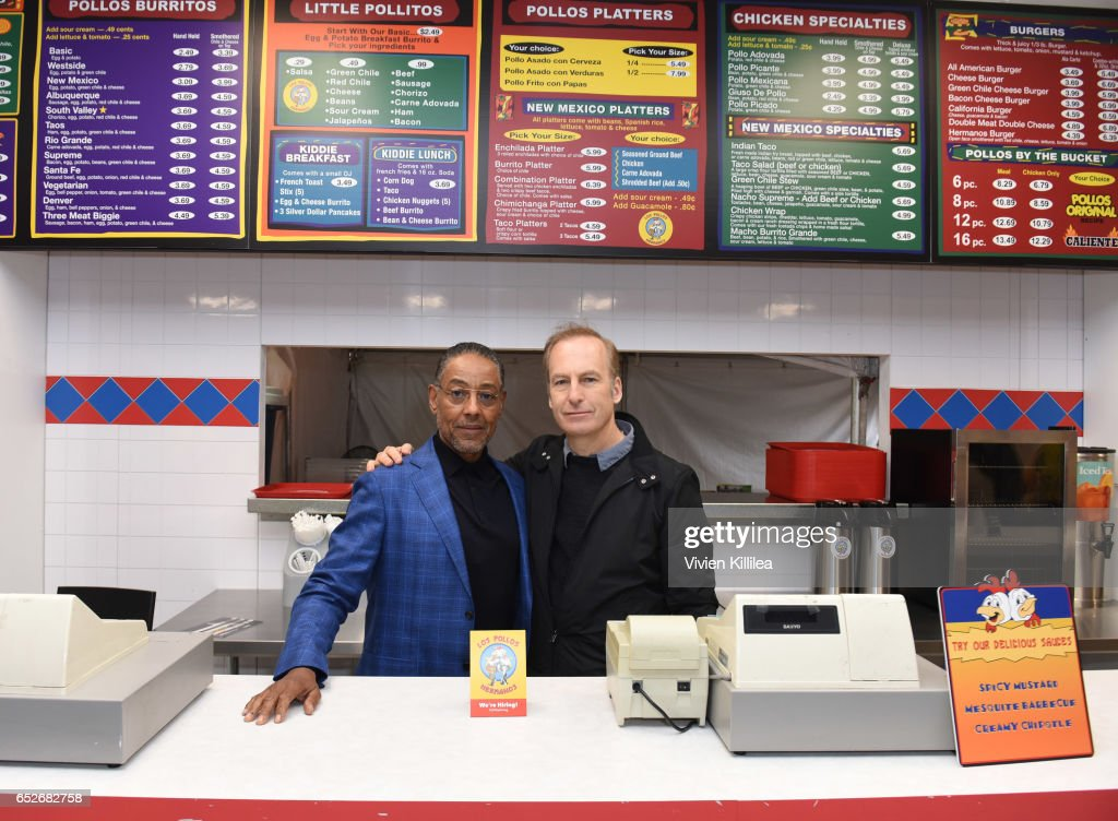 AMC's Better Call Saul Los Pollos Hermanos Pop-Up shop with Bob Odenkirk and Giancarlo Esposito