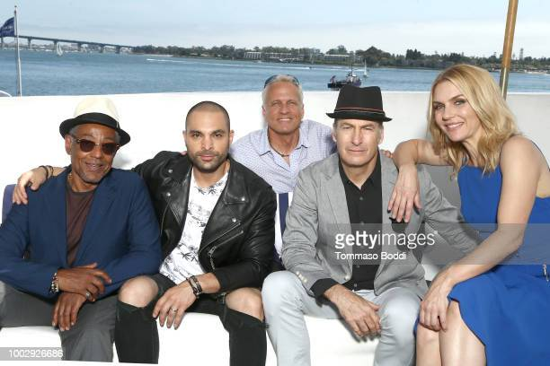 Actors Giancarlo Esposito Michael Mando Patrick Fabian Bob Odenkirk and Rhea Seehorn attend the #IMDboat At San Diego ComicCon 2018 Day Two at The...