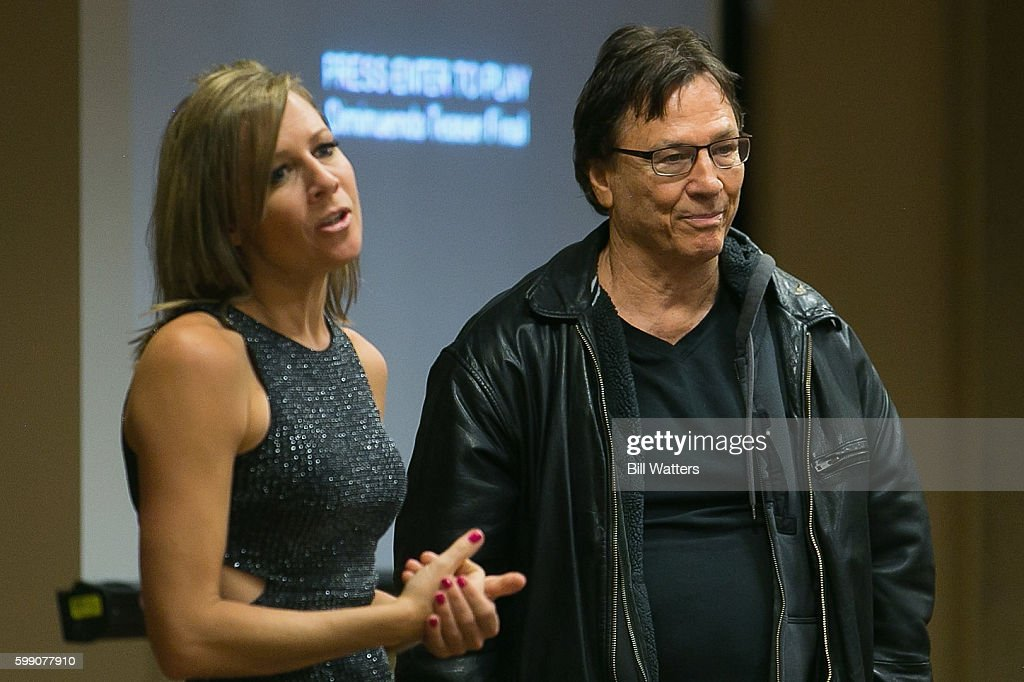 Actors Gigi Edgley and Richard Hatch talk about their upcoming film, Diminuendo at Dragon Con on September 3, 2016 in Atlanta, Georgia.