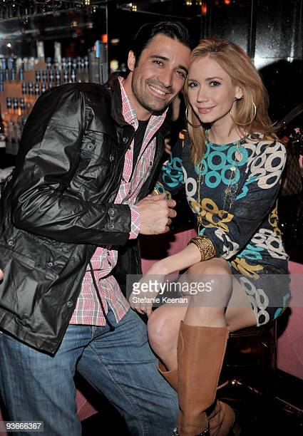 Actors Gilles Marini and Ashley Jones attend the Ubisoft and Oxygen present YOUR SHAPE featuring Jenny McCarthy launch event at Hyde Lounge on...