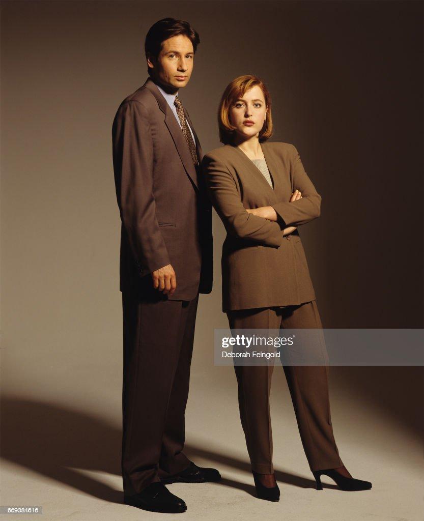 Gillian Anderson and David Duchovny Portrait Session : Nachrichtenfoto