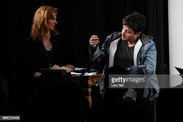 Actors Gillian Williams and Luke Kirby on stage during The Hamptons International Film Festival's Screenplay Reading of Mickey and the Bear at The...