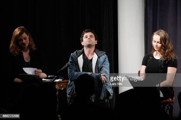 Actors Gillian Williams Luke Kirby and Andi Matichak on stage during The Hamptons International Film Festival's Screenplay Reading of Mickey and the...