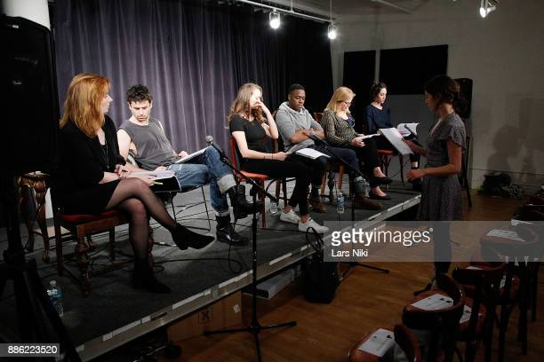 Actors Gillian Williams Luke Kirby Andi Matichak Ronald Peet Catherine Curtin Sydney Lemmon and writer and director Annabelle Attanasio on stage...