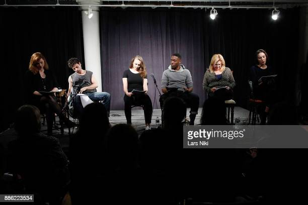 Actors Gillian Williams Luke Kirby Andi Matichak Ronald Peet Catherine Curtin and Sydney Lemmon on stage during The Hamptons International Film...