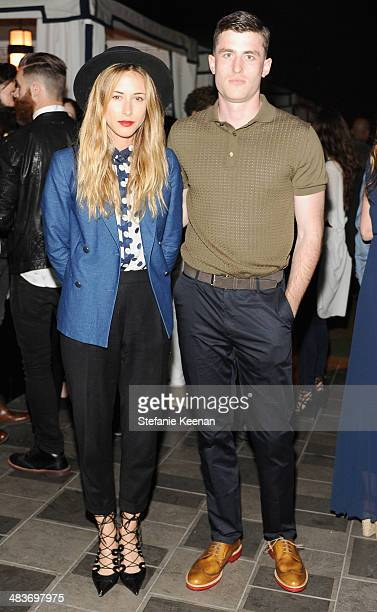 Actors Gillian Zinser and James Frecheville attend the Zooey Deschanel for Tommy Hilfiger Collection launch event at The London Hotel on April 9 2014...