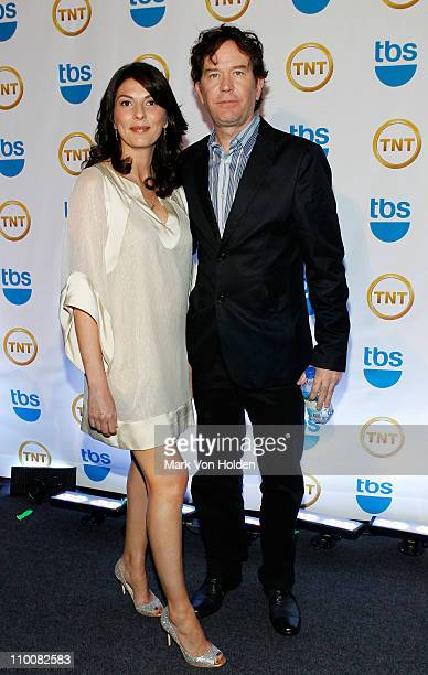 Actors Gina Bellman and Timothy Hutton attend the TEN Upfront presentation at Hammerstein Ballroom on May 19 2010 in New York City 19688_003_0277JPG
