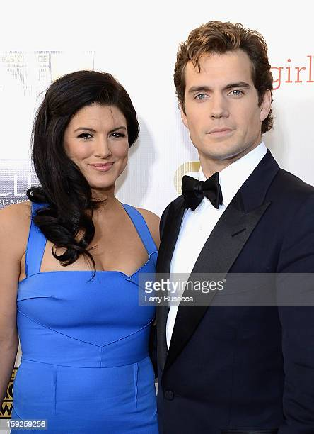 Actors Gina Carano and Henry Cavill attend the 18th Annual Critics' Choice Movie Awards held at Barker Hangar on January 10 2013 in Santa Monica...