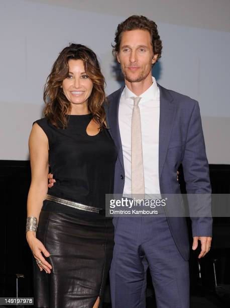 Actors Gina Gershon and Matthew McConaughey attend a screening of 'Killer Joe' at The Film Society of Lincoln Center on July 24 2012 in New York City