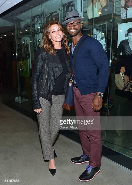 Actors Gina Gershon and Taye Diggs visit SiriusXM Studios on September 19 2013 in New York City