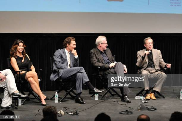 Actors Gina Gershon Matthew McConaughey playwright and actor Tracy Letts and film director William Friedkin attend a screening of 'Killer Joe' at The...