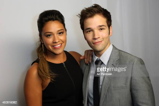 Actors Gina Rodriguez and Nathan Kress attend the 2014 Young Hollywood Awards brought to you by Samsung Galaxy at The Wiltern on July 27 2014 in Los...