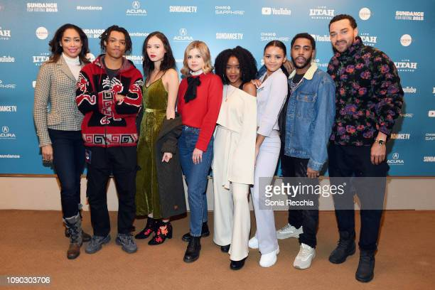 Actors Gina Torres Henry Hunter Hall Francesca Noel Ana Mulvoy Ten Lovie Simone Celeste O'Connor Jharrel Jerome and Jesse Williams attend the Selah...