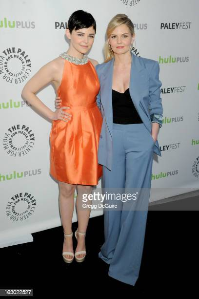 Actors Ginnifer Goodwin and Jennifer Morrison arrive at the 30th Annual PaleyFest The William S Paley Television Festival featuring 'Once Upon A...