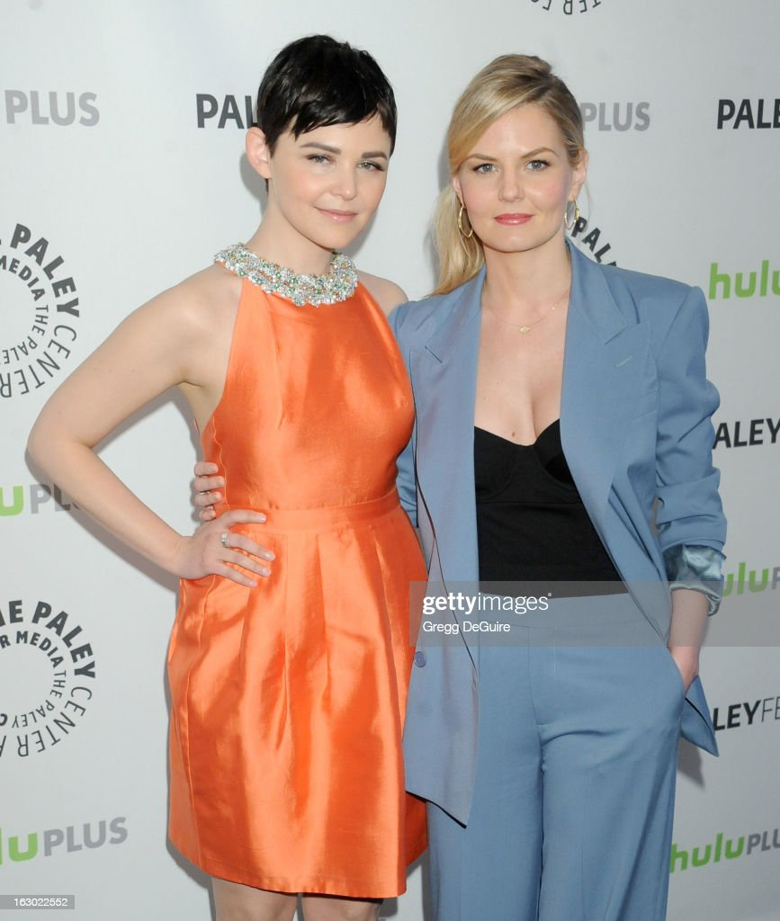 Actors Ginnifer Goodwin and Jennifer Morrison arrive at the 30th Annual PaleyFest: The William S. Paley Television Festival featuring 'Once Upon A Time' at Saban Theatre on March 3, 2013 in Beverly Hills, California.