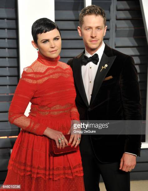 Actors Ginnifer Goodwin and Josh Dallas arrive at the 2017 Vanity Fair Oscar Party Hosted By Graydon Carter at Wallis Annenberg Center for the...