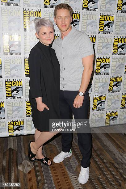 Actors Ginnifer Goodwin and Josh Dallas arrive at the 'Once Upon a Time' press room on July 11 2015 in San Diego California