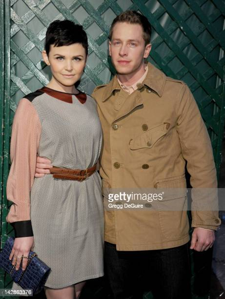 Actors Ginnifer Goodwin and Josh Dallas arrive at the world premiere of My Valentine video premiere on April 13 2012 in West Hollywood California