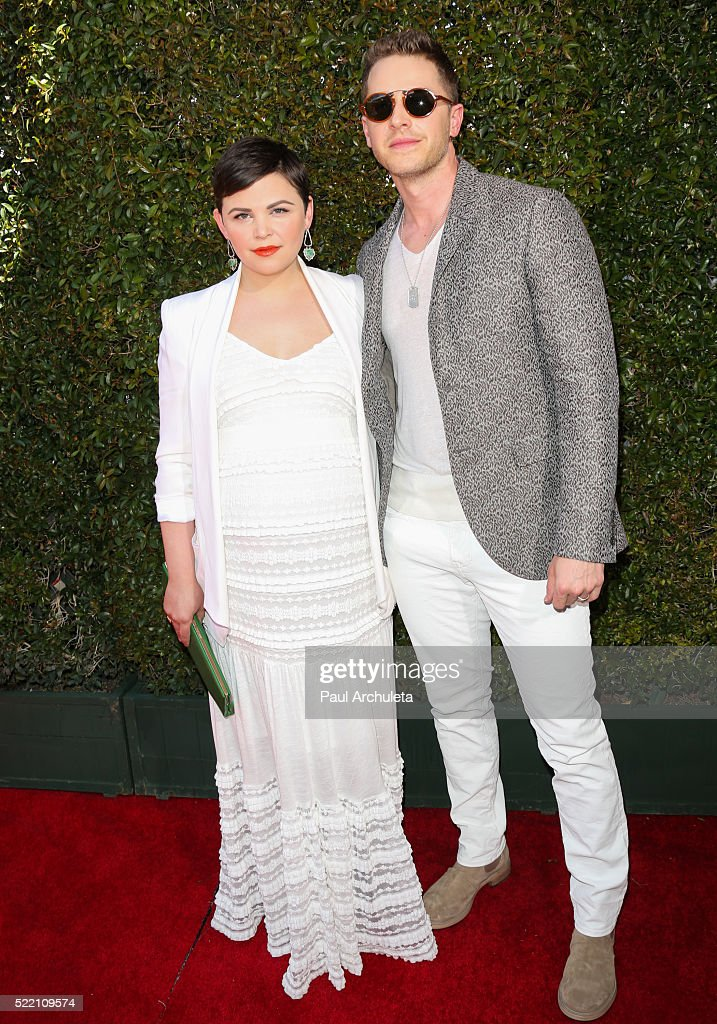 Actors Ginnifer Goodwin (L) and Josh Dallas (R) attend the 13th Annual Stuart House Benefit presented by John Varvatos at John Varvatos on April 17, 2016 in Los Angeles, California.