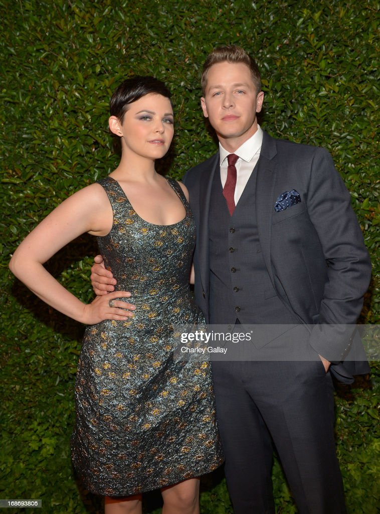 Actors Ginnifer Goodwin (L) and Josh Dallas attend Vogue and MAC Cosmetics dinner hosted by Lisa Love and John Demsey in honor of Prabal Gurung at the Chateau Marmont on Monday, May 13, 2013 in Los Angeles, California.