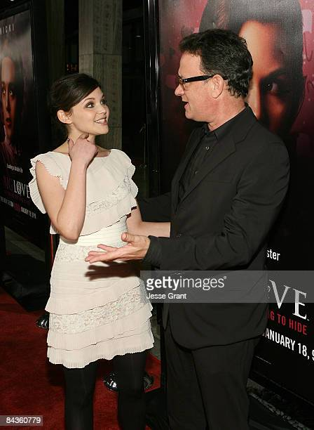 Actors Ginnifer Goodwin and Tom Hanks attend the 3rd season Los Angeles premiere of HBO's Big Love held at The Cinerama Dome on January 14 2009 in...