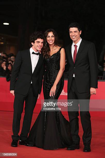 Actors Giovanni Anzaldo, Madalina Ghenea and director Alessandro Gassman attend the 'Razza Bastarda' Premiere during the 7th Rome Film Festival at...