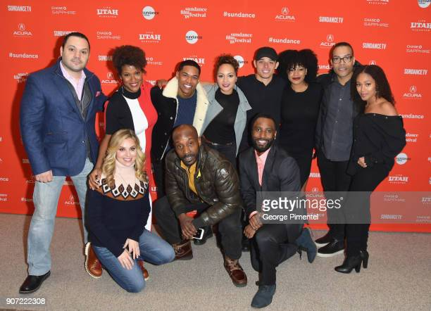 Actors Giuseppe Ardizzone Casssandra Freeman Kelvin Harrison Jr Jasmine Cephas Jones Anthony Ramos and Chanté Adams and director Reinaldo Marcus...