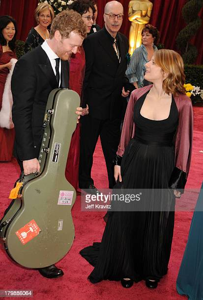 Actors Glen Hansard and Marketa Irglova attends the 80th Annual Academy Awards at the Kodak Theatre on February 24 2008 in Los Angeles California