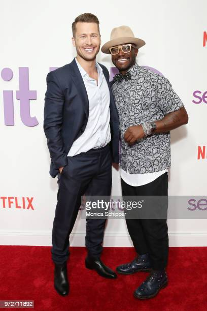 Actors Glen Powell and Taye Diggs attend a special screening of the Netflix film 'Set It Up' at AMC Lincoln Square Theater on June 12 2018 in New...