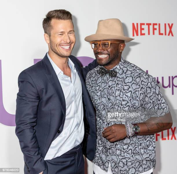 Actors Glen Powell and Taye Diggs attend the New York special screening of the Netflix film 'Set It Up' at AMC Loews Lincoln Square