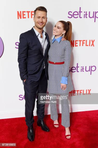 Actors Glen Powell and Zoey Deutch attend the Set It Up New York screening at AMC Lincoln Square Theater on June 12 2018 in New York City