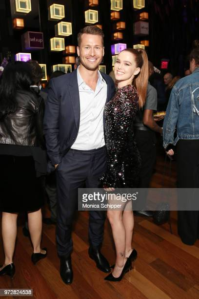 Actors Glen Powell and Zoey Deutch attends a special screening of the Netflix film Set It Up at AMC Lincoln Square Theater on June 12 2018 in New...